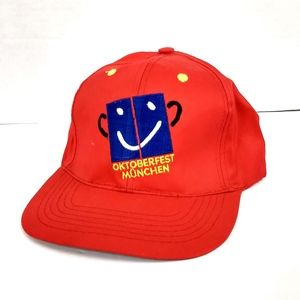 Other - Vintage Oktoberfest Munchen Snapback Hat Mens Red